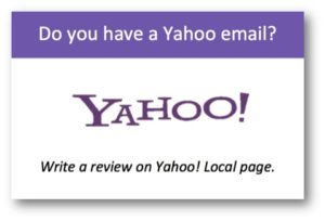 Yahoo Review Button